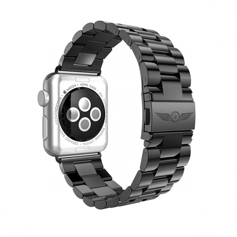 Aviato Apple Watch Premium Edelstahl Armband 42 Mm Space Grey Edelstahl Armband Apfeluhr Armband Leder