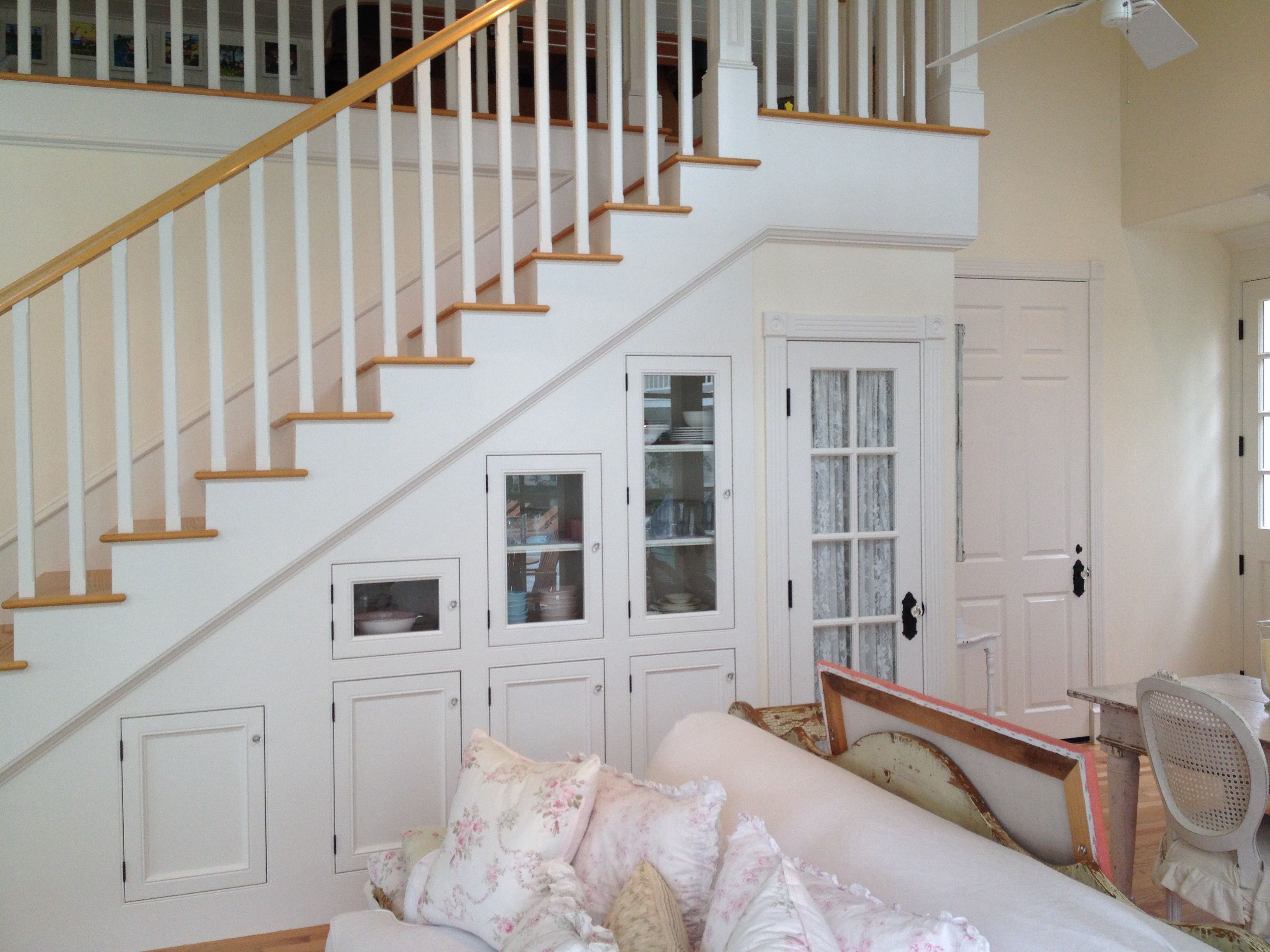 Nice storage and a pantry under the staircase