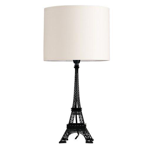 Eiffel Tower 55cm Table Lamp Minisun Shade Colour Cream Table Lamp Black Table Lamps Lamp