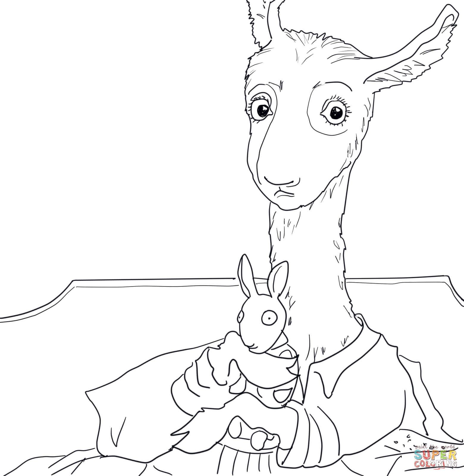 Http Coloringhome Com Coloring Page 1684674 Llama Llama Red