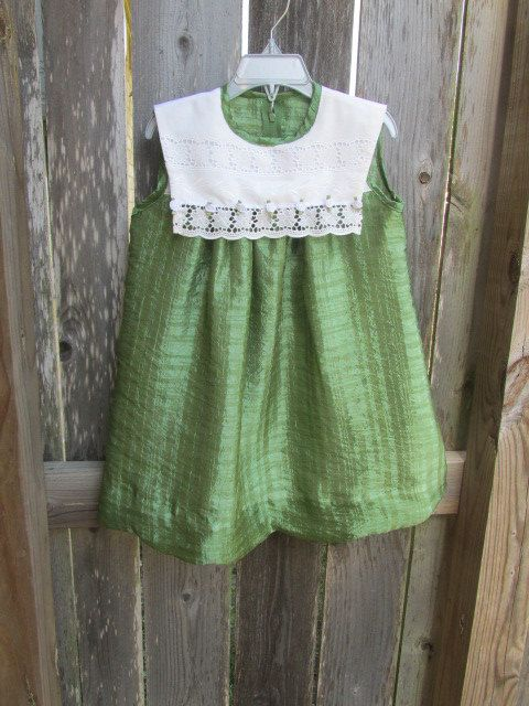 6d643b628974 Soft dressy green dress for a little girl. Comfy with gentle ...