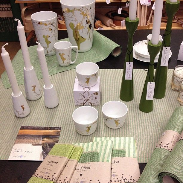Green greener original Rolf™ candle holders in mix, by freemover.se, designer Maria Lovisa D