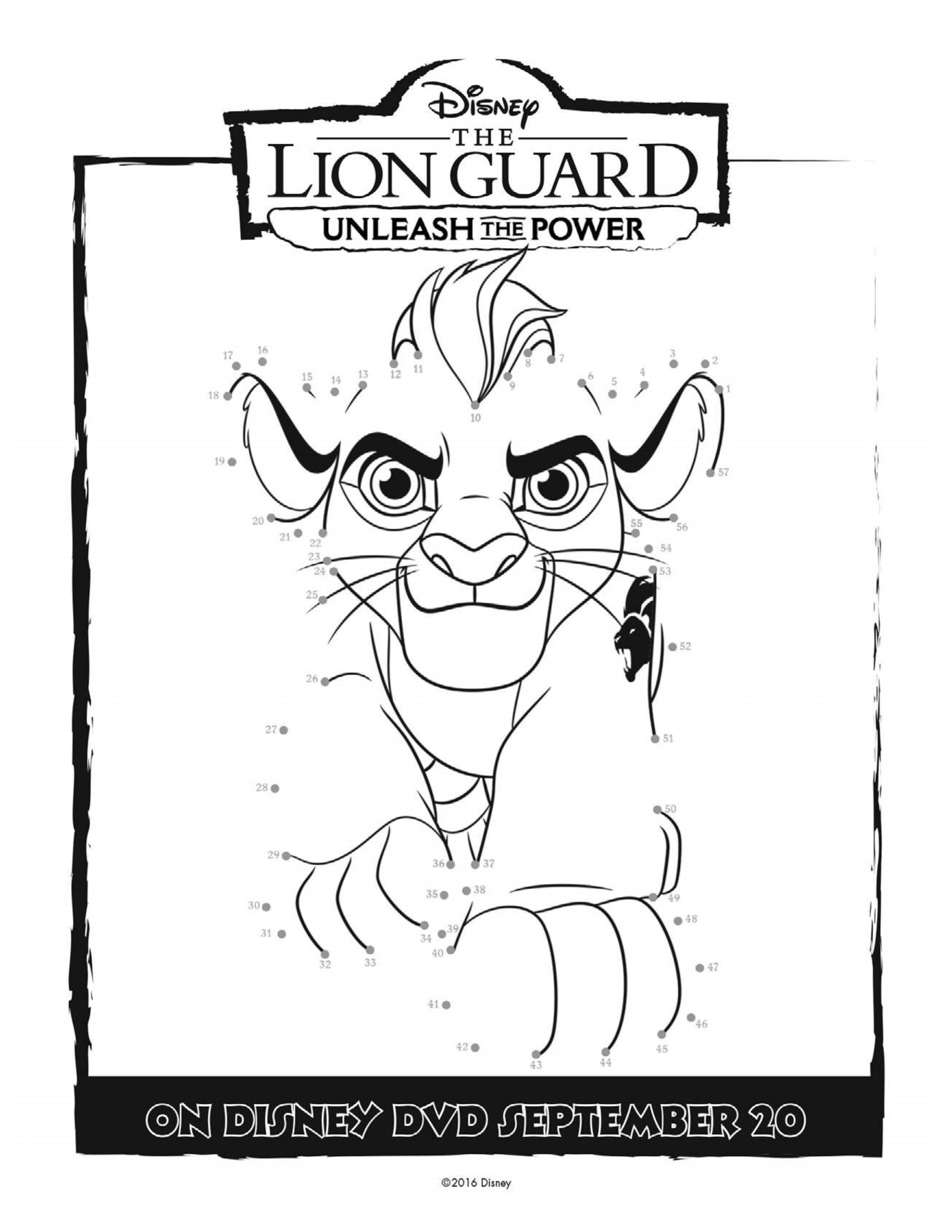 Disney Lion Guard Printable Coloring Page