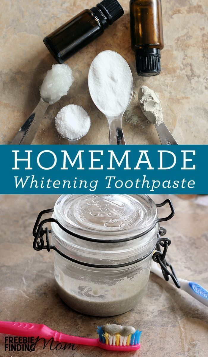 DIY Teeth Whitening Baking Soda Toothpaste Recipe #bestteethwhitening