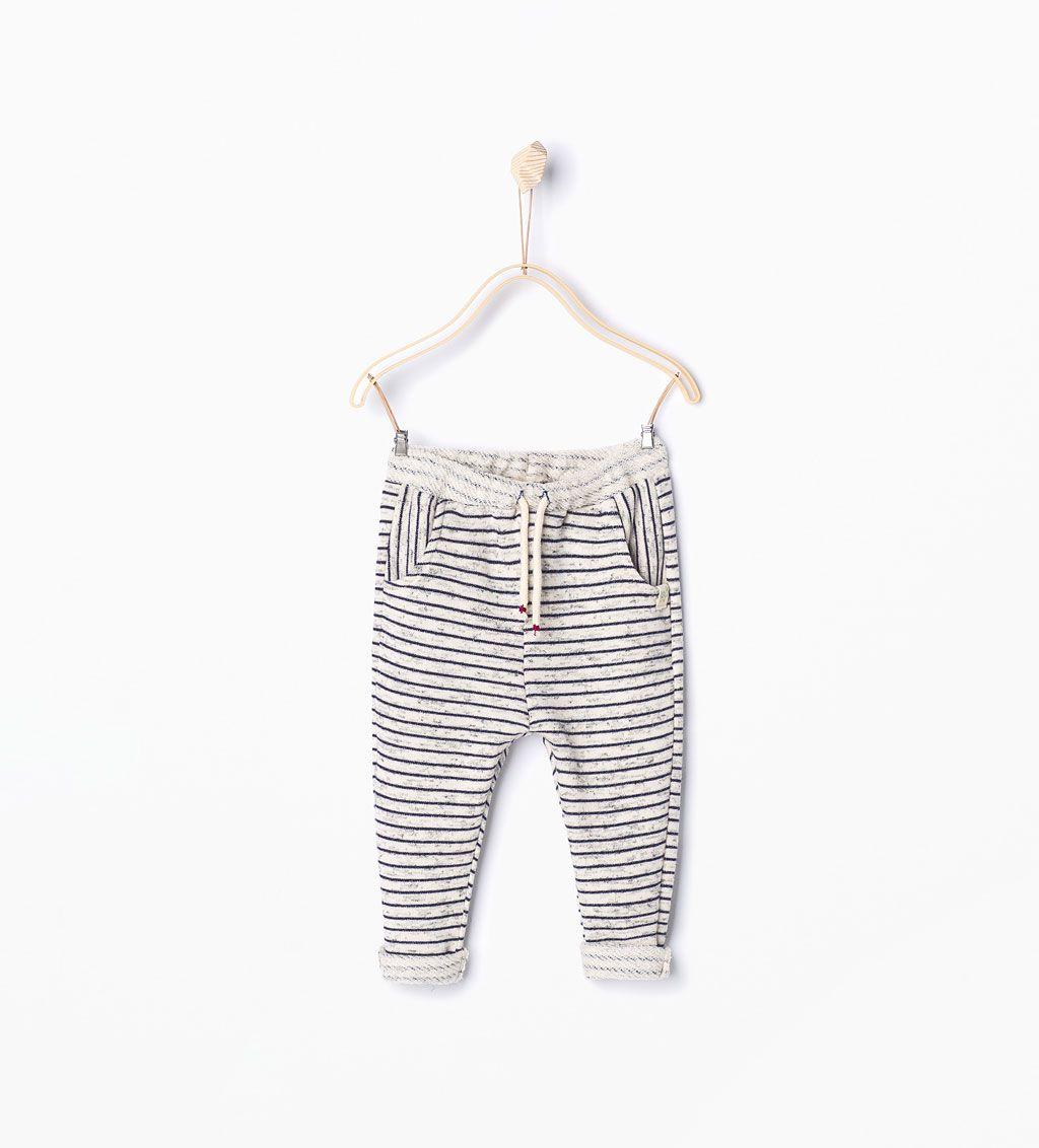 image 1 de pantalon rayures de zara kids short. Black Bedroom Furniture Sets. Home Design Ideas