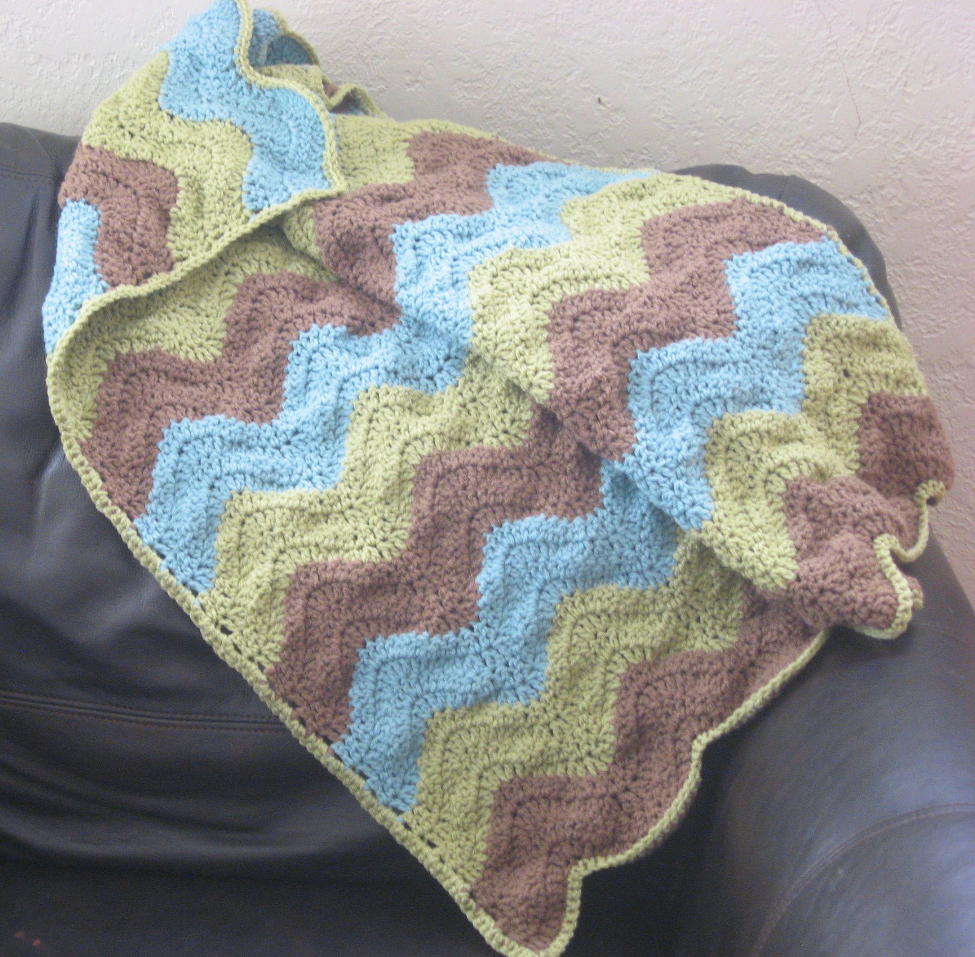 Crochet Blocking (Ripple Baby Afghan)