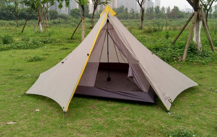 Season Four-season TentLayers SingleFabric NylonType 3 - 4 Person TentArea Material AluminumStructure One BedroomOutside Tent Waterproof In & 995G Camping Inner Tent Ultralight 3-4 Person Outdoor 20D Nylon ...