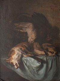 Nature morte au renard et faisan par Antoine Gadan