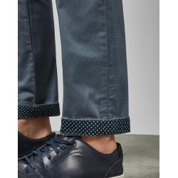 Photo of Slim cotton chinos with Ted Baker print