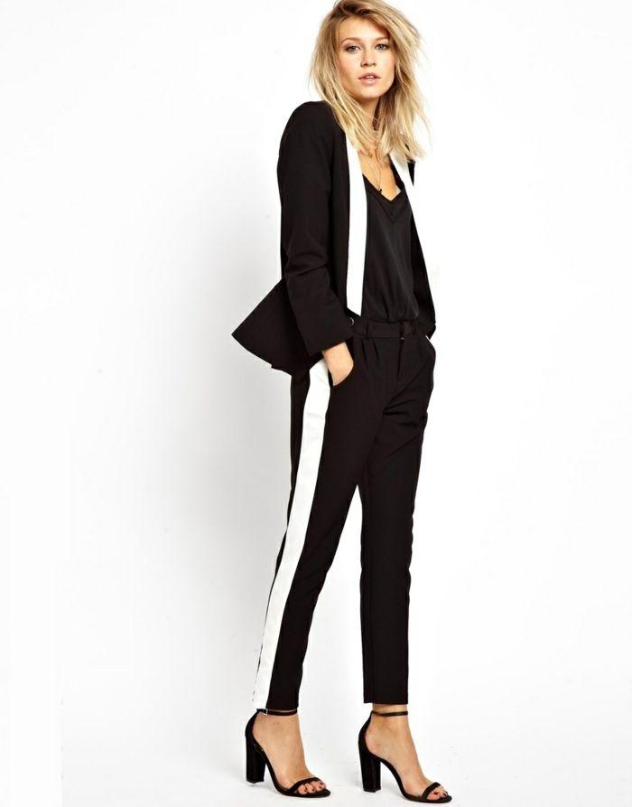 tendance chic pour vous le tailleur pantalon femme new style suits tuxedo. Black Bedroom Furniture Sets. Home Design Ideas