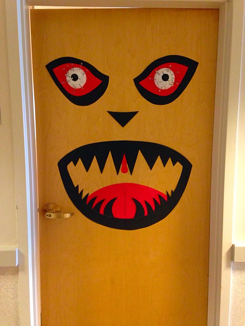 Scary Halloween door decoration Halloween Pinterest Halloween - Halloween Door Decorations