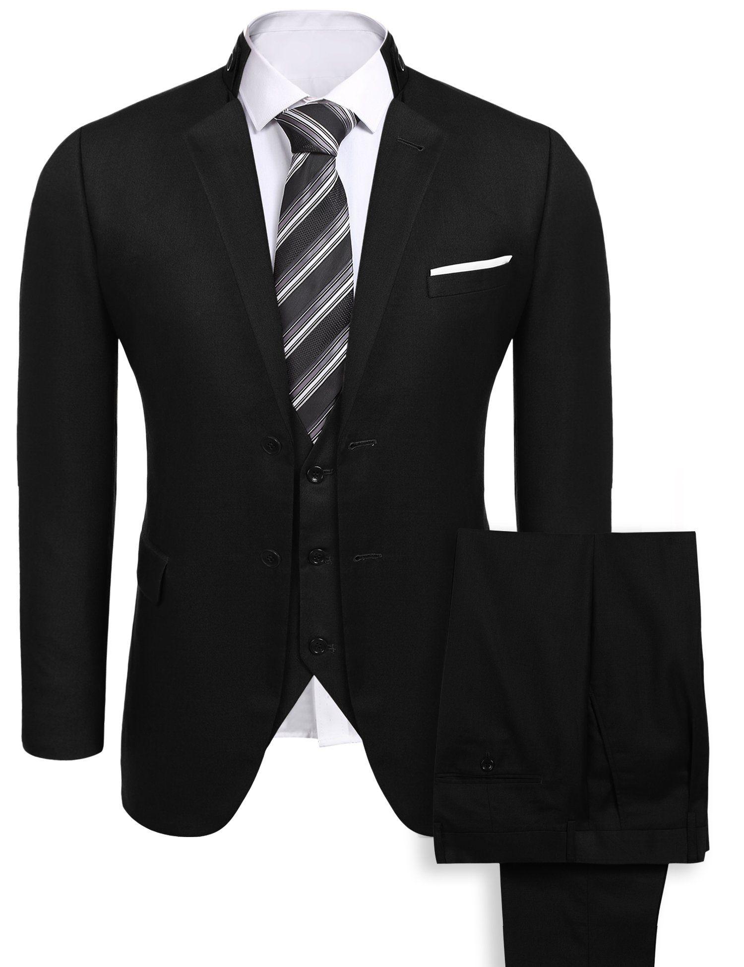 Menus slim fit piece suit button solid dress suit blazer tux