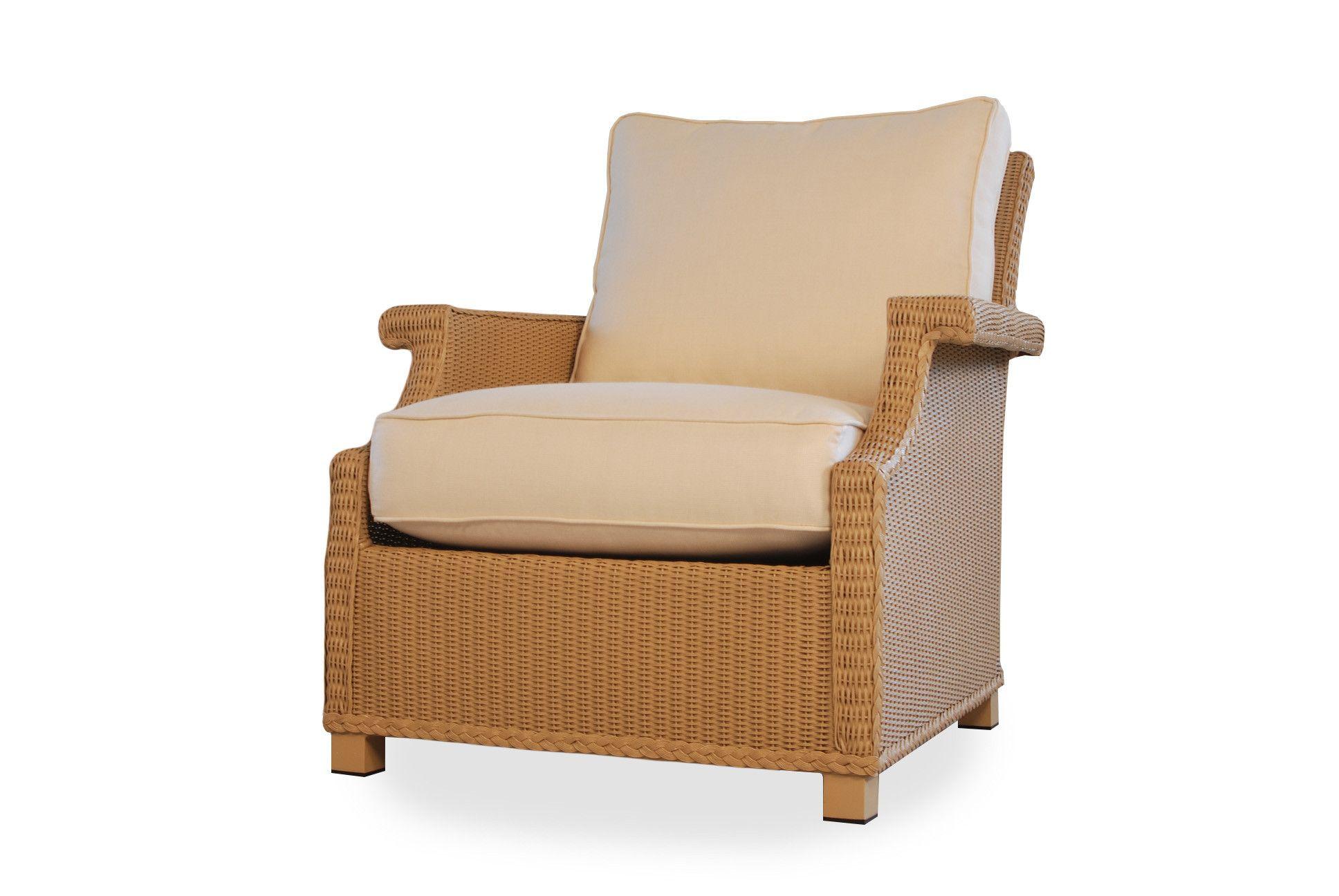Lloyd flanders hamptons wicker deep lounge chair with