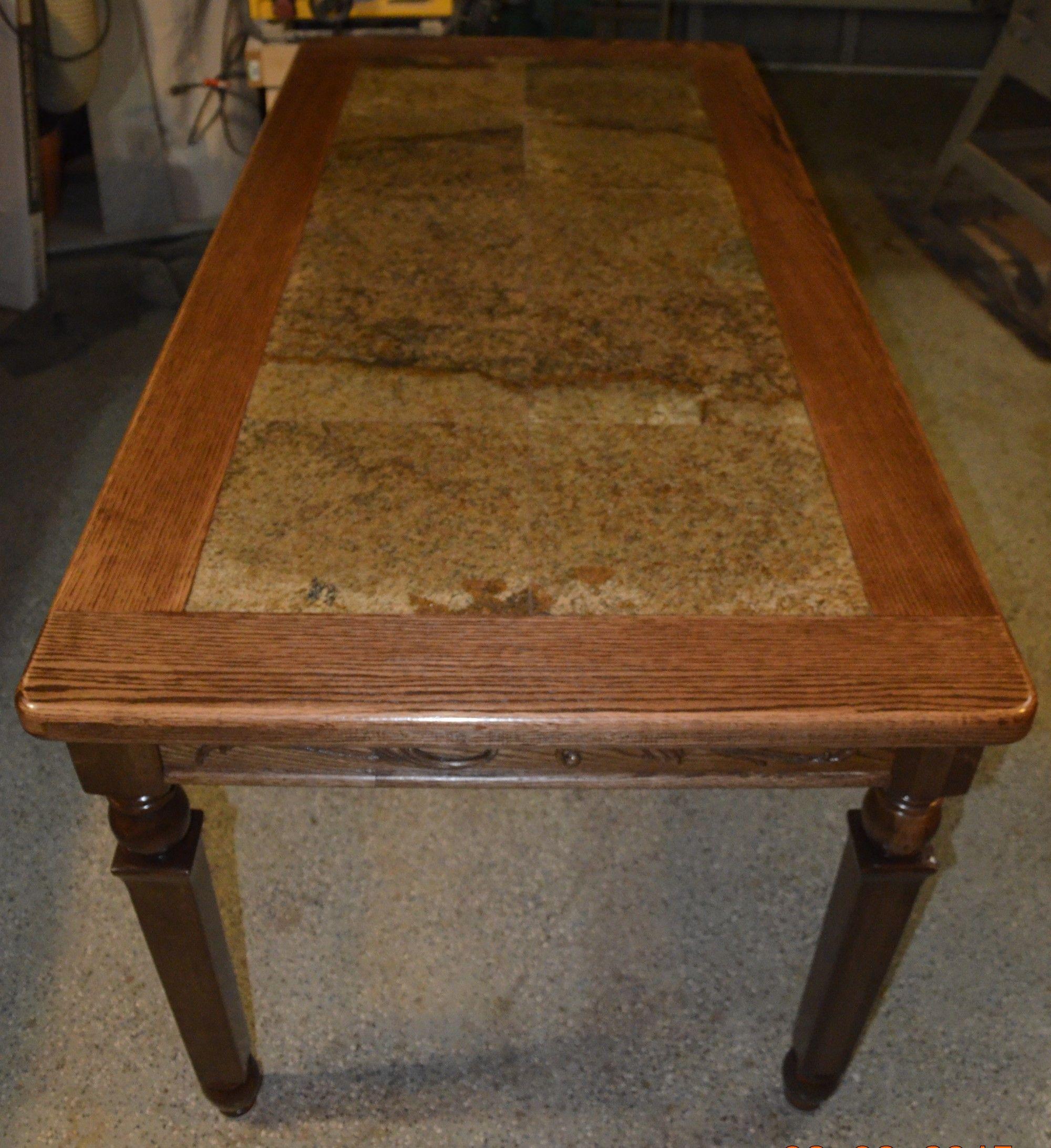 Oak Dining Room Table Inlaid Granite Oak Dining Room Table Oak