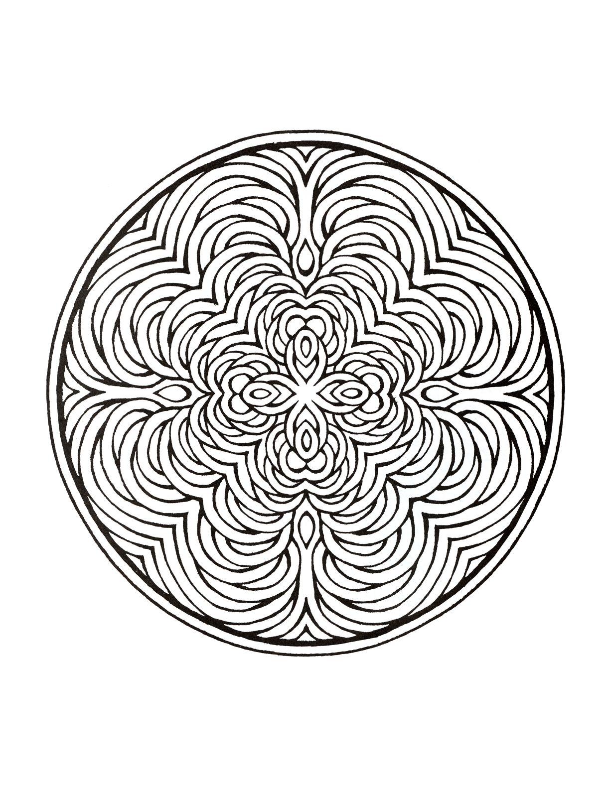 Mystical Mandala Coloring Book   Adult Coloring Pages   Pinterest ...