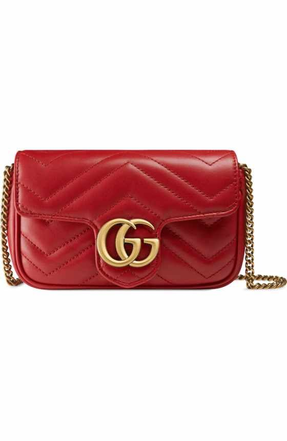 ff1a0bfe8324 Free shipping and returns on Gucci Medium GG Marmont 2.0 Animal Stud  Matelassé Leather Shoulder Bag