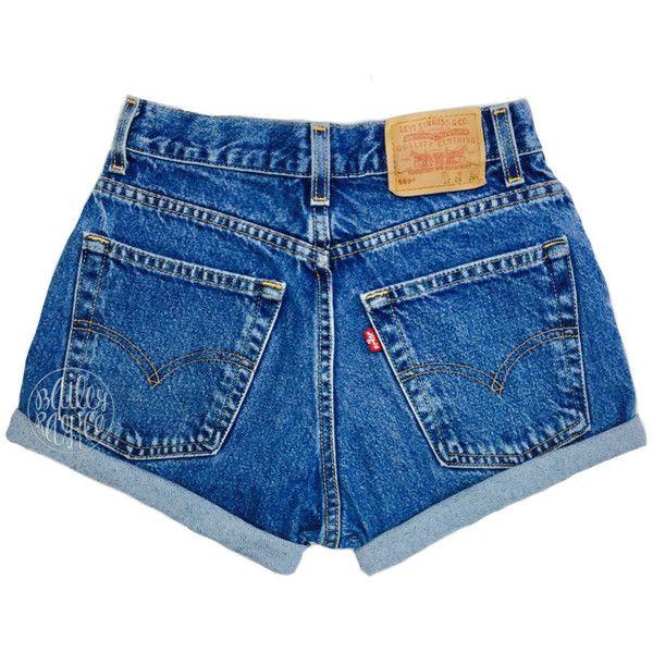 Levis High Waisted Cuffed Denim Shorts Rolled Up Denim Shorts Plain 29 Lik Vintage Levi Shorts High Waisted Shorts Denim Distressed High Waisted Shorts