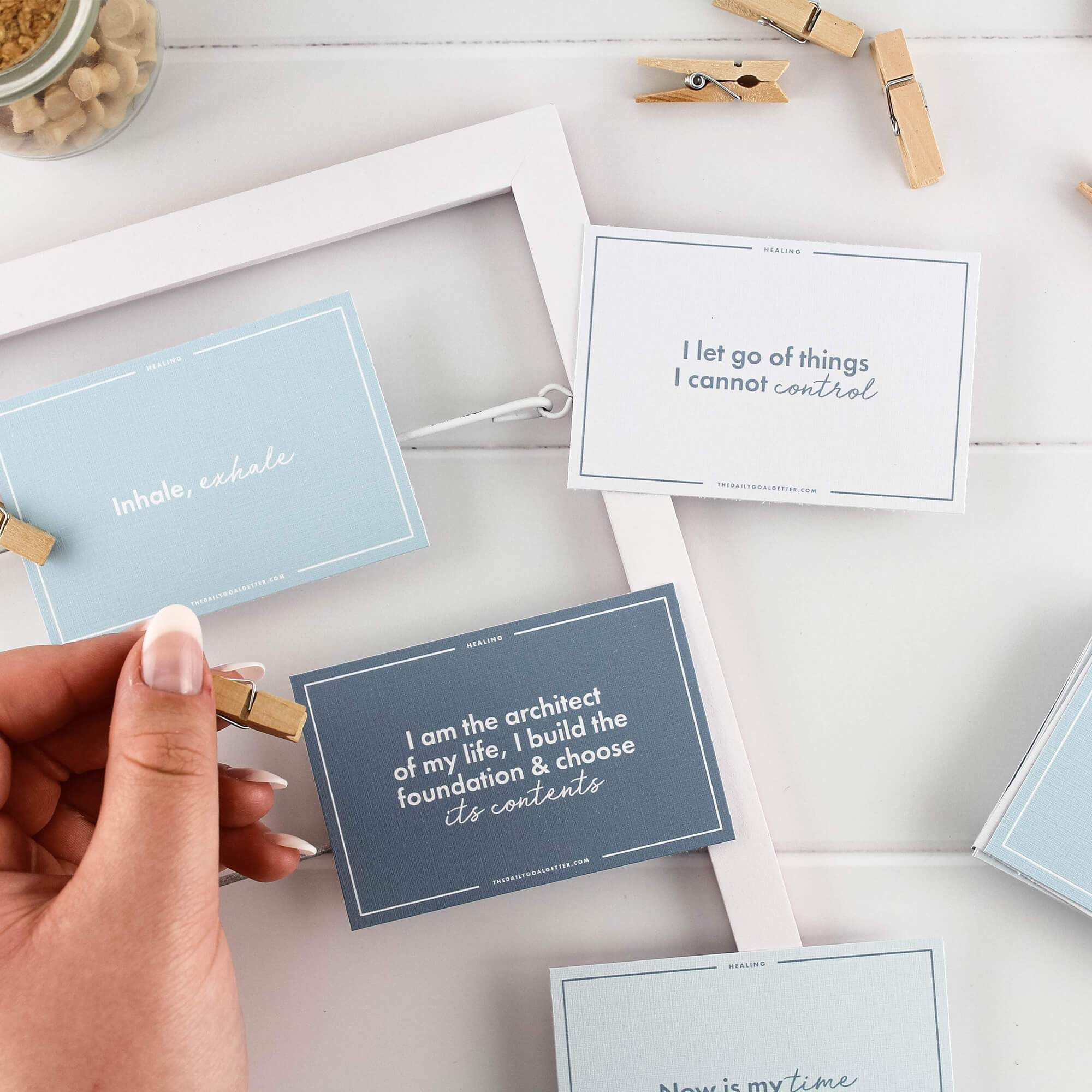 Healing Affirmation Cards to Heal the Mind, Body & Spirit