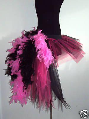 HEN NIGHT PARTY PINK TUTU BURLESQUE BUSSEL TUTU SKIRT SHOW GIRL DRESS COSTUME