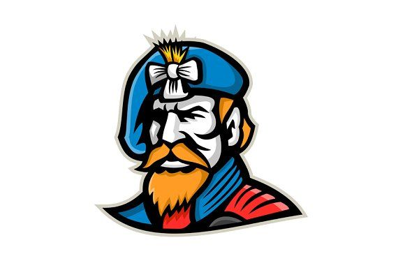 d90dff37ba Bearded Lady Mascot by patrimonio on @creativemarket Mascot icon ...