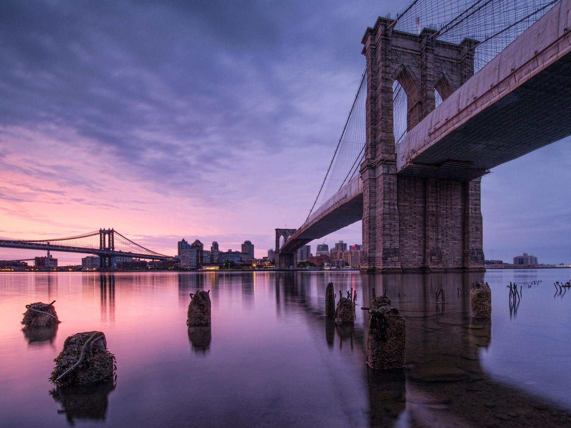 Nueva York, EE.UU. Puente de Brooklyn