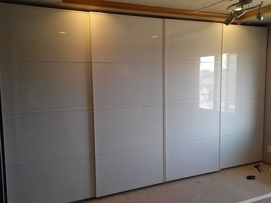 PAX Wardrobes With Sliding Glass Doors   WeDeliverOmaha