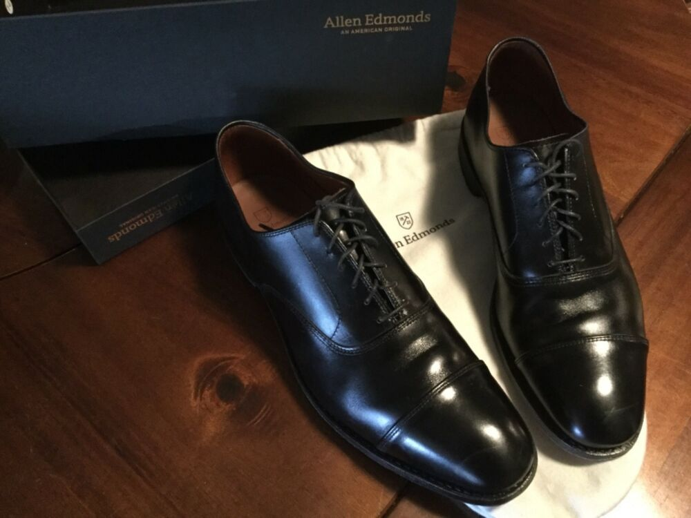 Allen Edmonds PARK AVENUE Cap toe Oxford Black Leather AE 12