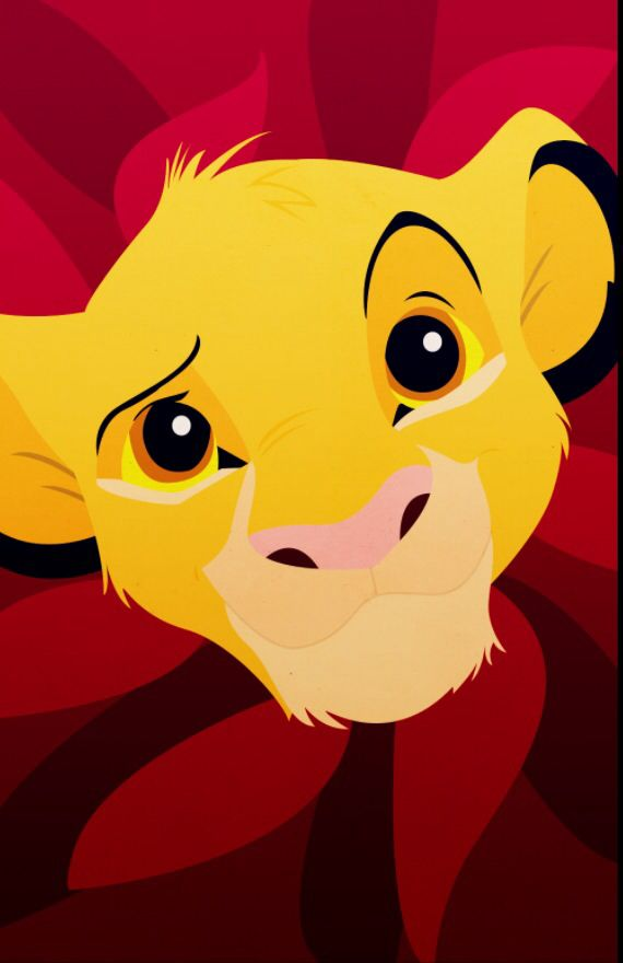 "Simba from ""The Lion King"" iPhone background by"