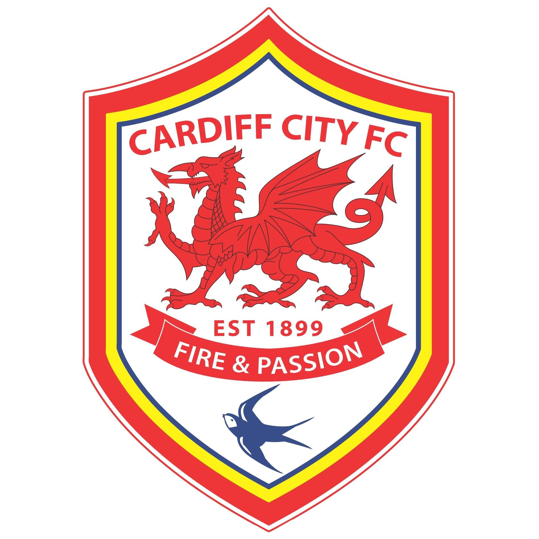 Cardiff city football club logo footballsoccer logos