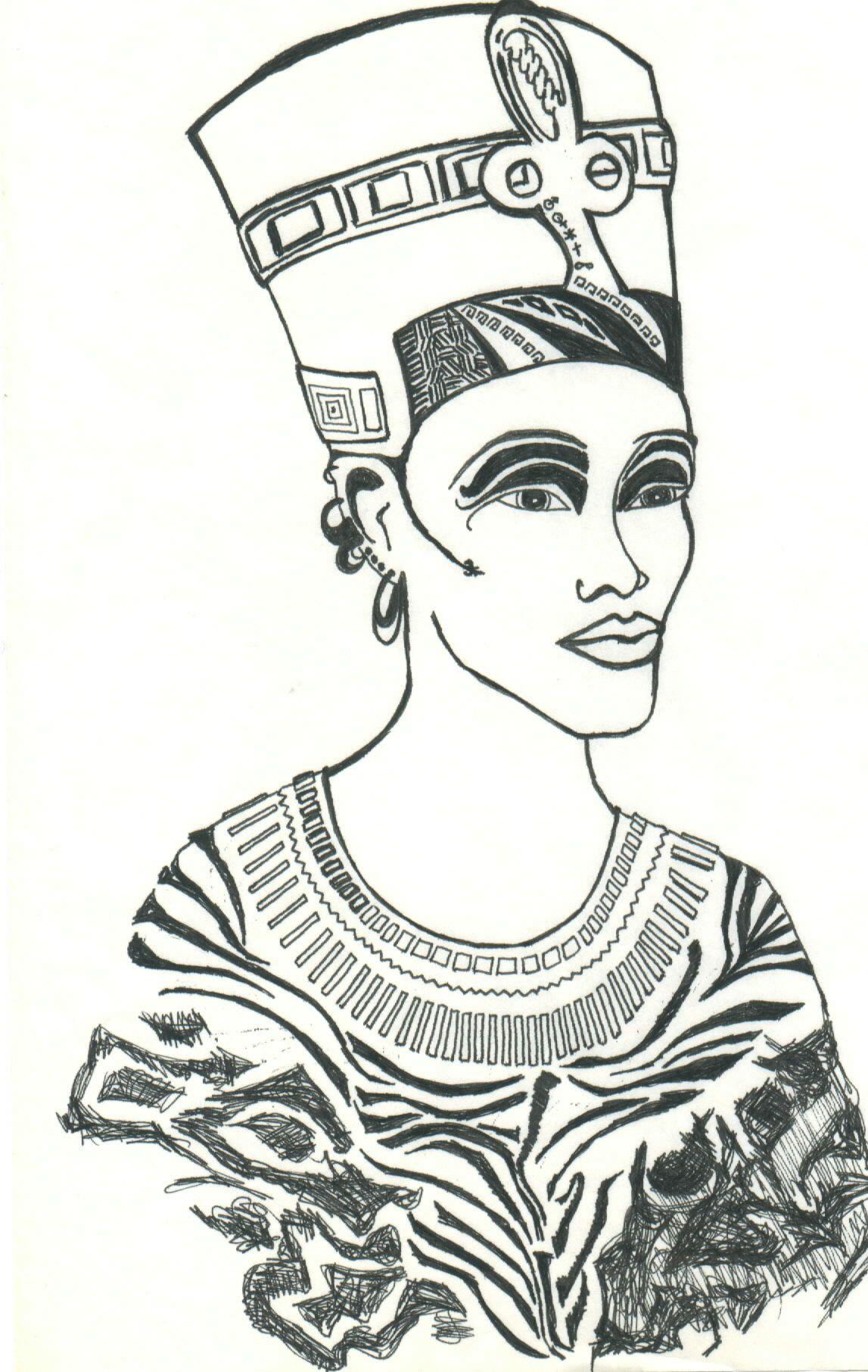 Nefertiti My Art Coloring Pages Art Drawings