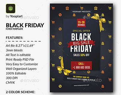 Check out new work on my @Behance portfolio  - black flyer template