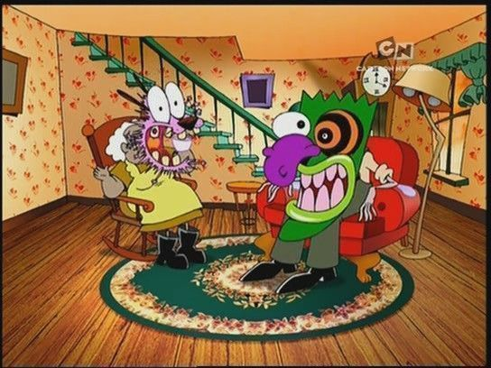 Courage The Cowardly Dog Old Cartoons Relatable Childhood