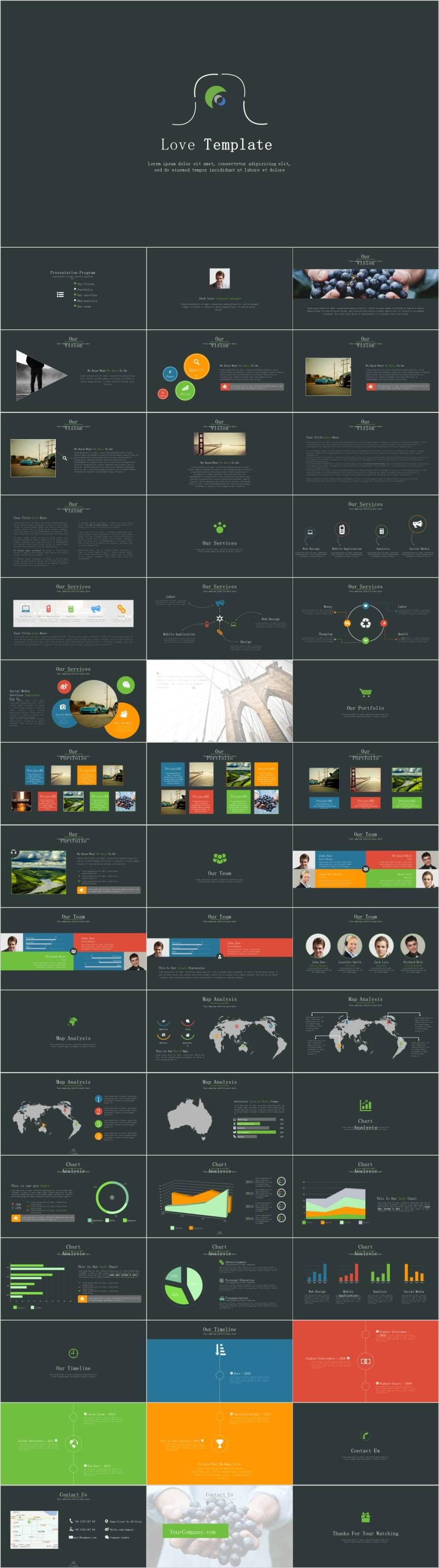 Best Project report PowerPoint template