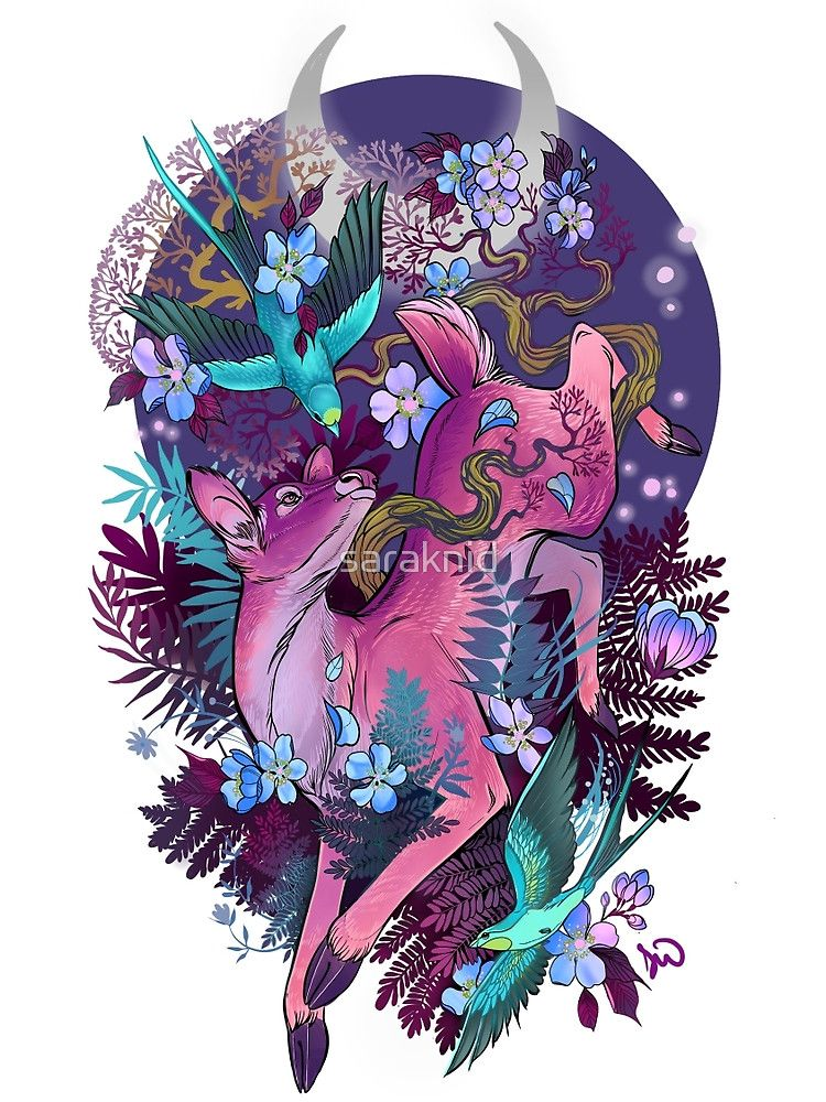 Mystic Midnight Pink White Tail Doe by saraknid | Pink ...
