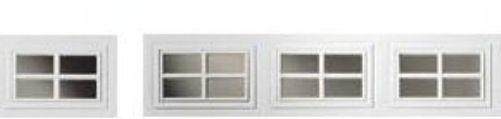 Clopay Window Insert Short Panel Colonial 4 Piece Set 18 1 4 X 10 5 8 Diy Window Inserts Garage Decor Garage Door Windows