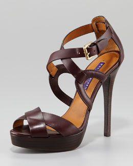 da374439025 X17RV Ralph Lauren Jesita Crisscross Platform Sandal | Heels and ...