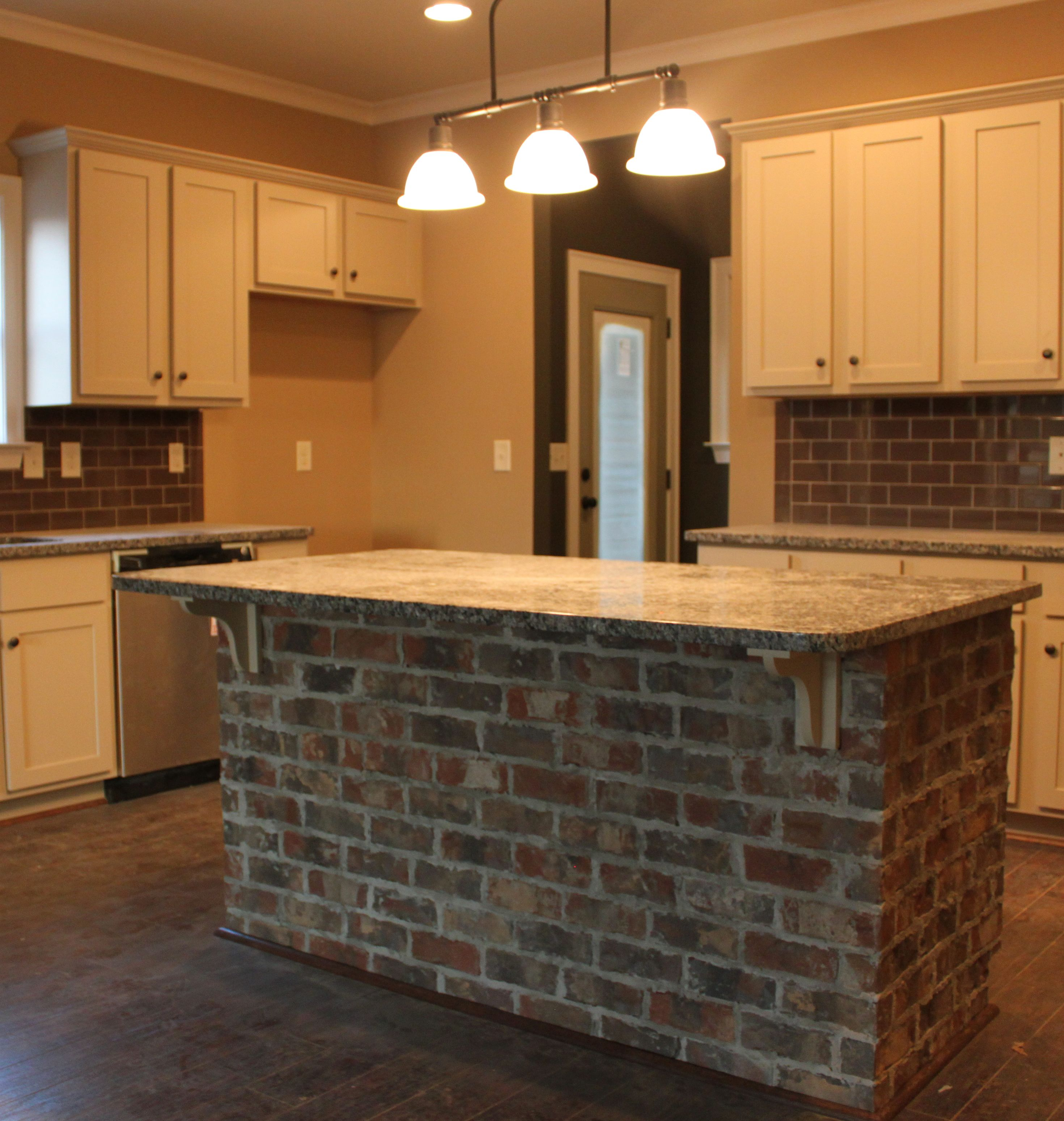 Kitchen Brick Wall Brick Island Surround For My Home In 2019 Brick Wall