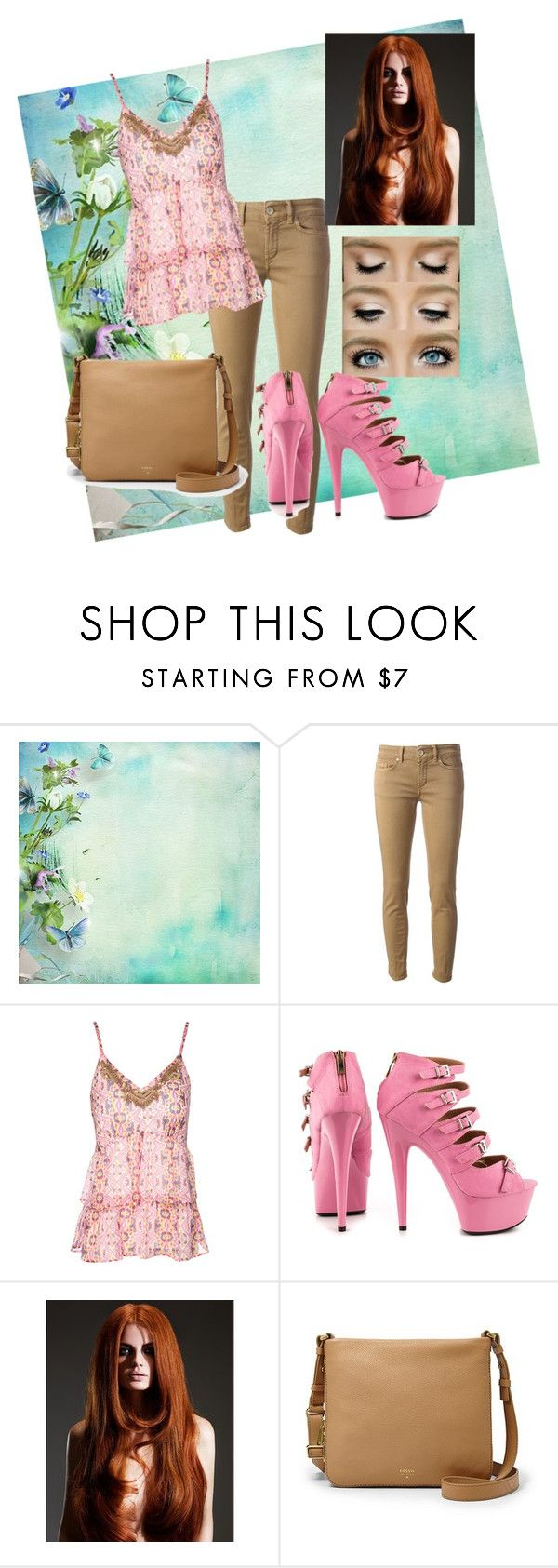 """""""Sans titre #8"""" by feryiah ❤ liked on Polyvore featuring Dondup, Jane Norman, Ellie Shoes and FOSSIL"""