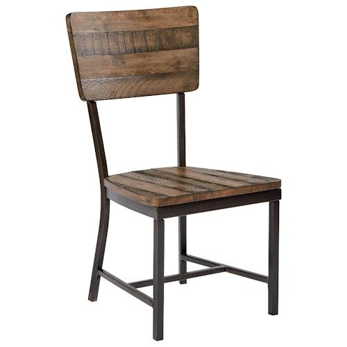 magnolia home by joanna gaines industrial rustic side chair