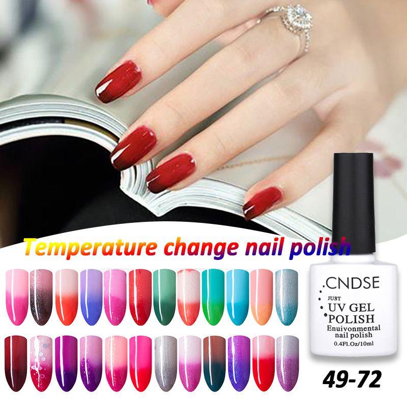 Cambio de Temperatura de Uñas de Gel Esmalte de Uñas de Color UV Gel ...