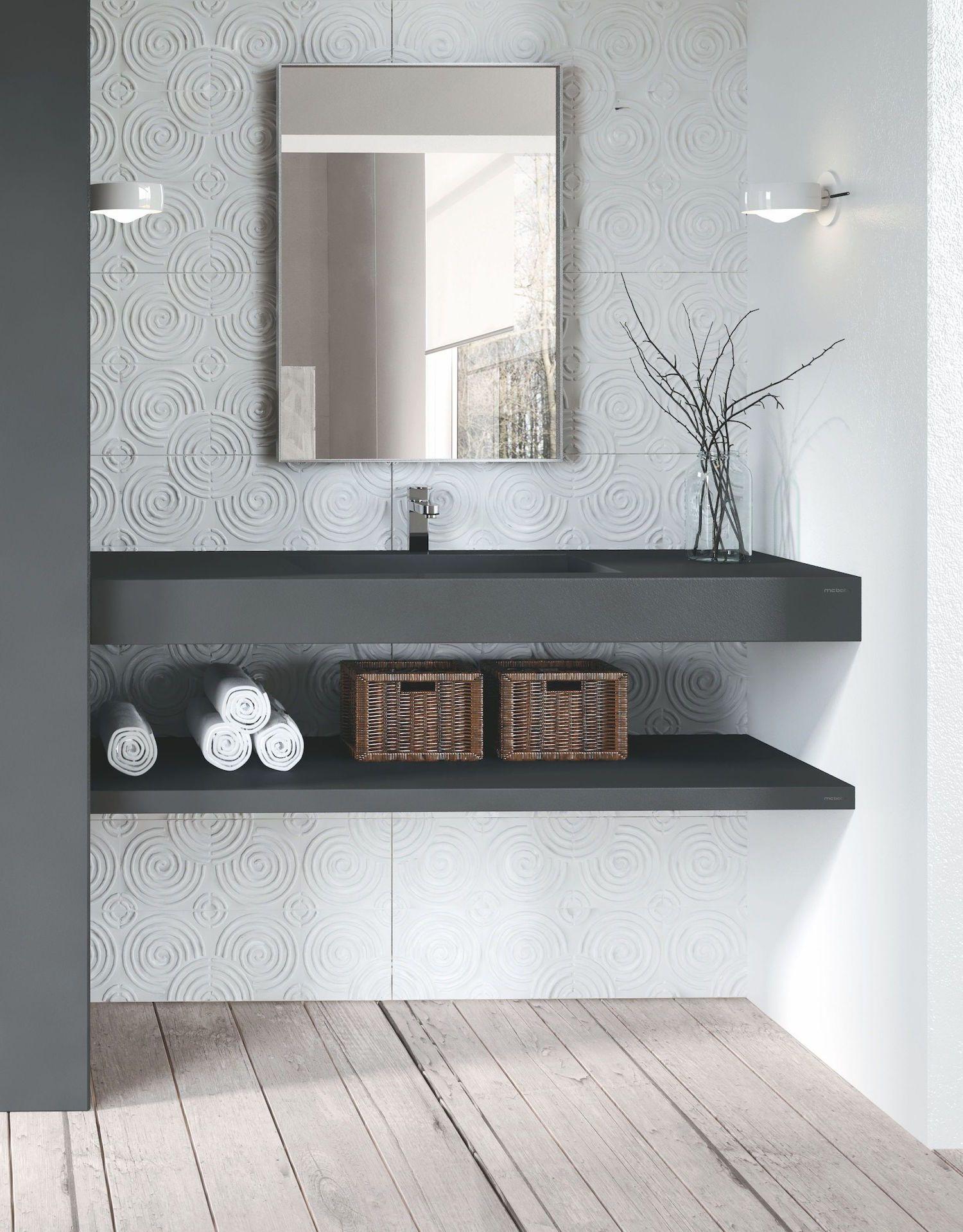 Zwarte wastafel van composiet via Burgmans sanitair #badkamer ...