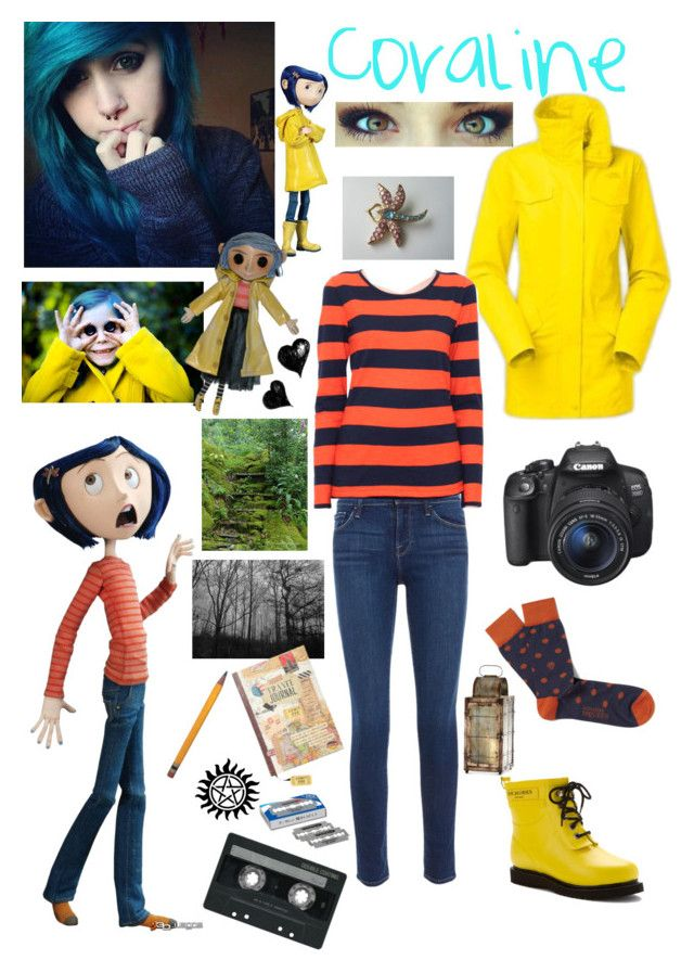 """""""Coraline"""" by l311619 ❤ liked on Polyvore featuring Ilse Jacobsen Hornbaek, The North Face, Alexander McQueen, Frame Denim, Petit Bateau, Eos, Cyan Design and CASSETTE"""