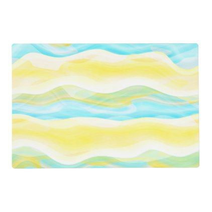 Bright Artistic Abstract Retro Cool Wave Pattern Placemat - retro gifts style cyo diy special idea
