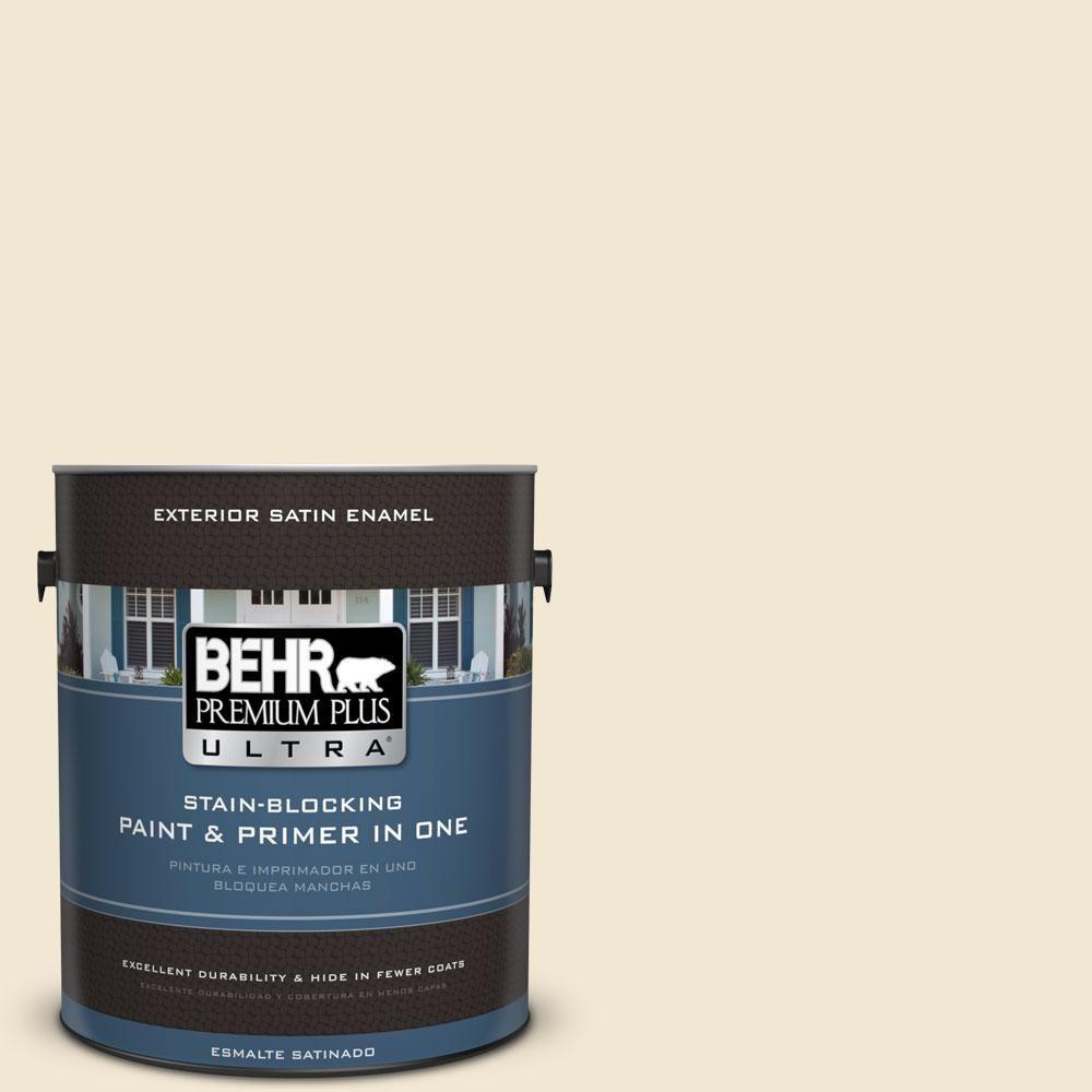 BEHR Premium Plus Ultra 1-gal. #bwc-09 Atlantis Pearl Satin Enamel Exterior Paint
