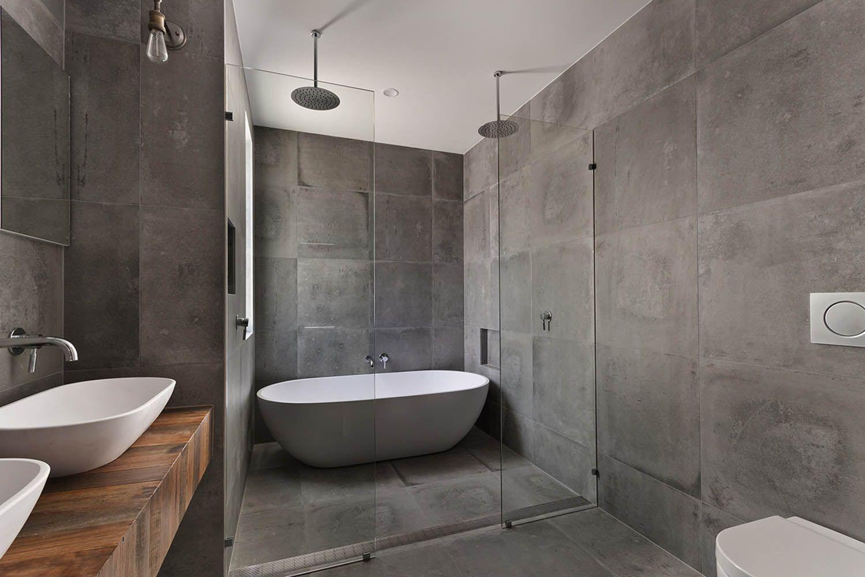 grote vierkante tegels badkamermuur - Google zoeken | badkamer ...