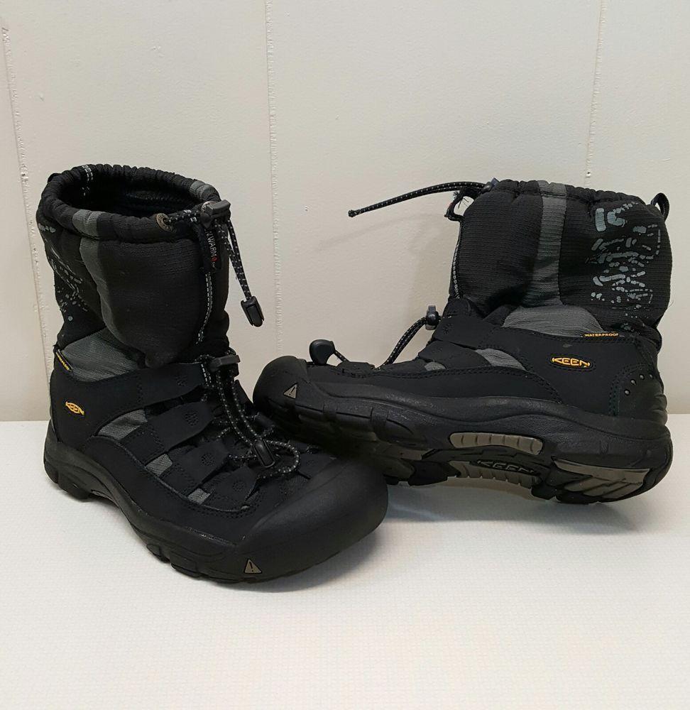 KEEN Winter Snow Boots Black US6 EU39