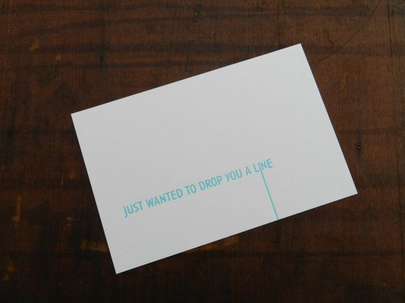 Letterpress just wanted to drop you a line postcard on etsy 200 letterpress just wanted to drop you a line postcard on etsy 200 a linegreeting cardsenvelopepostcards m4hsunfo