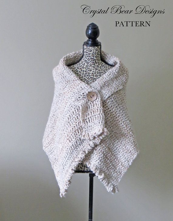 Crochet shawl pattern button wrap poncho easy beginner pdf crochet shawl pattern button wrap poncho easy beginner pdf pattern made dt1010fo