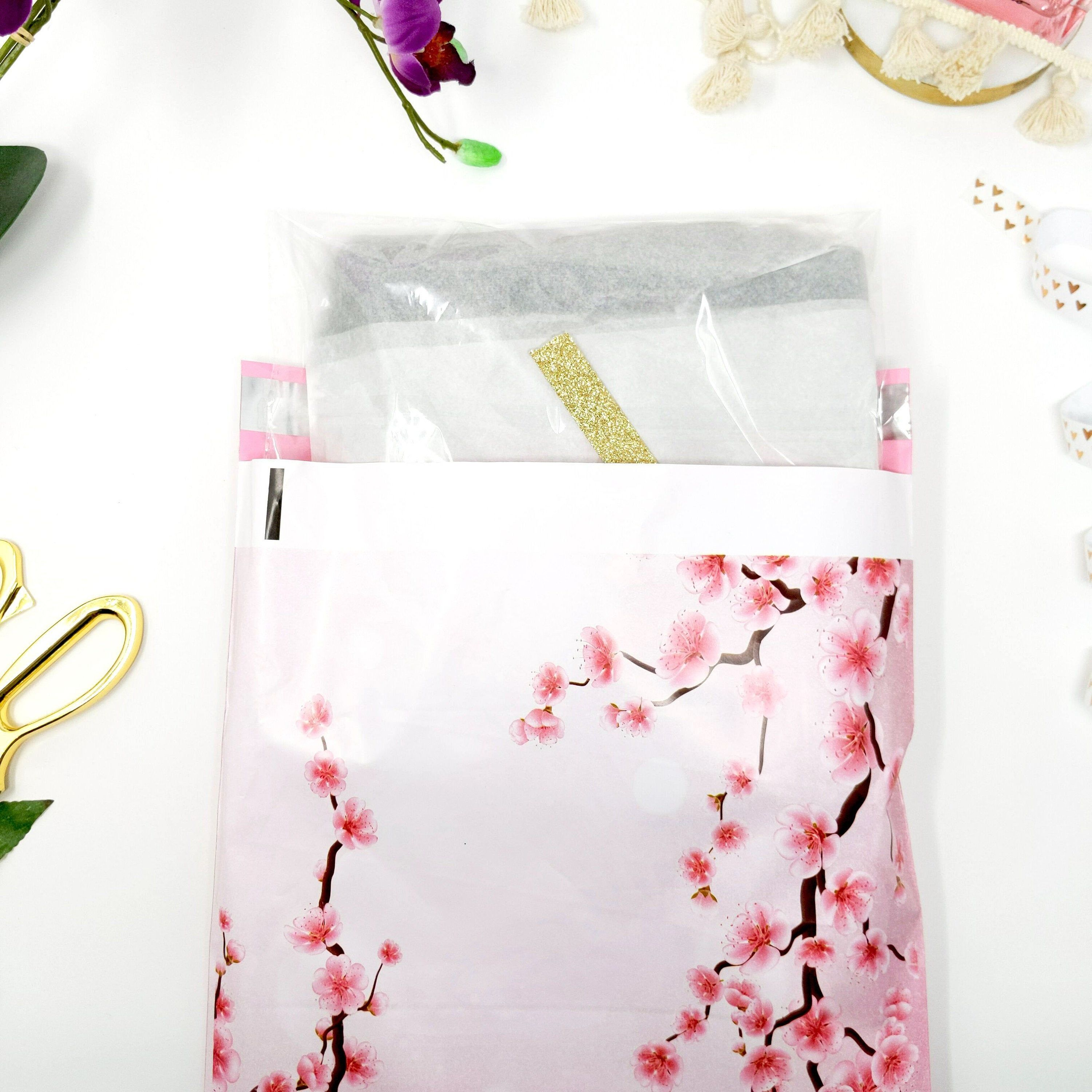 25 8.5x11 Packed with Love from Us to You Pink Dot Poly Bubble Mailers