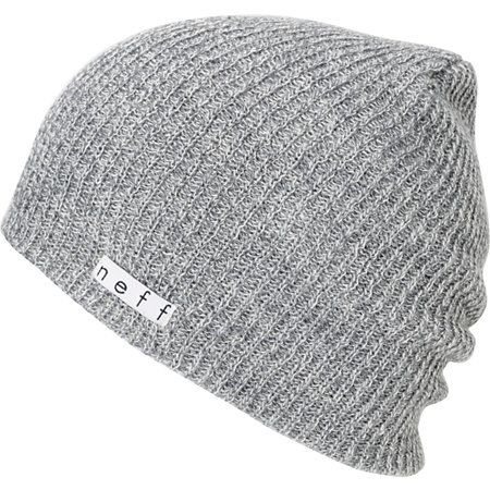 108111be102 The Neff Daily slouch beanie is the ultimate in classic head wear. This  grey Neff beanie is extra soft with a slightly ribbed knit texture